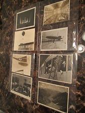Lot 8 Original BW Press Photos Germany Zeppelins Hindenburg Graf 1920-30s