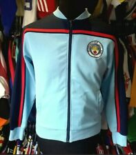 MANCHESTER CITY 1982 RETRO FOOTBALL TRACKY TOP SCORE DRAW OFFICIAL ADULT SMALL