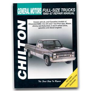 Chilton Repair Manual for 1980-1986 Chevrolet K30 - Shop Service Garage Book gm