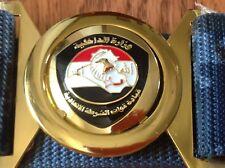 IRAQI FEDERALISM POLICE COMMEND UNIFORM BELT W METAL BELT BUCKELالشرطة الاتحادية