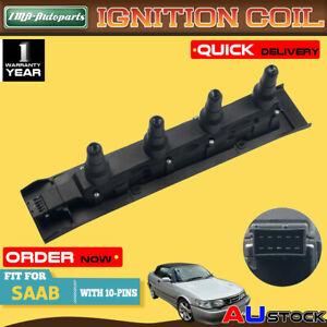Black Ignition Coil Pack For SAAB 9-3 9-5 I4 2.0L 2.3L Turbo Cassette 1999-2009