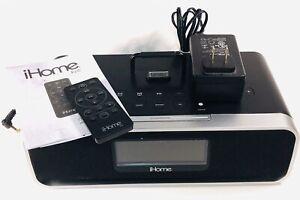 IHome IPhone  Charger Clock Radio ipod ipad Dock Speaker Remote iD91 Preowned