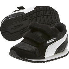 PUMA Children Shoes St Runner Hook Fabric Black Size 7.0 Qaj6