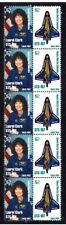 COLUMBIA NASA SPACE STRIP OF 10 TRIBUTE VIGNETTE STAMPS , CLARK