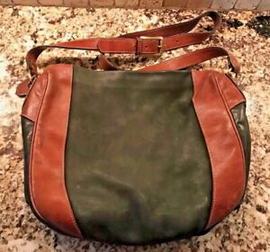 Vintage Bally Hunter Green Suede & Leather Duffle Hand Bag