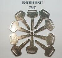 (10) Komatsu # 787 for Excavator Dozer Loader, Heavy Equipment with Logo