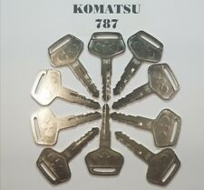(10) Komatsu Keys # 787 for Excavator Dozer Loader, Heavy Equipment with Logo.