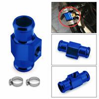 18mm Temperatura Dell'Acqua Sensore Adattatore Manometro Radiatore Raccordo Blu