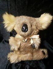 Vintage Koala Bear Real Fur 10 inch Stuffed Hard Body