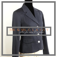 George Womens Size 6 Navy Blue Button Front Fully Lined Blazer Coat Jacket 2128