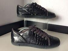 LANVIN Black Leather Sneakers Shoes Size 38 Uk 5 Vgc Pumps Women's
