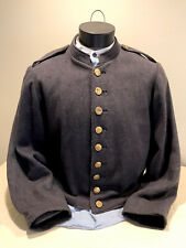 Civil War Repro Csa Shell Jacket Early-Mid War Georgia Buttons & Epaulettes-Used