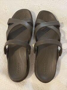 Crocs Dual Comfort size 11 New Dark Brown