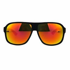Mens Color Mirror Lens Aviator Racer Sport Plastic Sunglasses