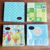 Paper cocktail napkins Caspari PPD Design lot of 4 unopened packs summer theme