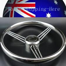 Stainless Steel 9 Spoke Marine Boat Steering Wheel 13-1/2'' Top Grade AU Local