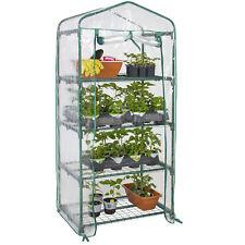 BCP 27x19x63in 4-Tier Mini Greenhouse w/ Roll-Up Zipper Door, Steel Shelves