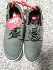 NEW QUIKSILVER SURFSIDE CANVAS SHOES MENS 7 GREEN  SNEAKER SHOES FREE SHIP