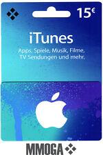 iTunes 15€ EUR Gutschein Key 15 Euro Apple Guthaben Code f. DE Deutsches Konto