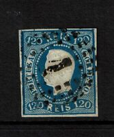 Portugal SC# 24, Used, Hinge Remnant, vertical crease (minor) - S7754