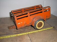 """Rare Vintage Ny-lint Toys 1/16 ? 9 1/8"""" Pull behind Cattle Horse Trailer"""