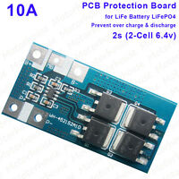 2S 10A 2S 6.4V 7.2V LiFePO4 Battery Cell Packs BMS Protection PCB Circuit Board