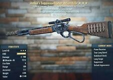 Fallout 76 XBOX ONE Weapon LV45 Junkies Explosive Lever Rifle 25% RL ⭐⭐⭐🔥