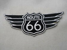 ROUTE 66 WITH BLACK WINGS NEW IRON ON /SEW ON NAME PATCH  TAG