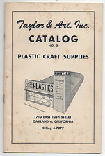 1940s Taylor & Art Inc Plastic Craft Supplies Trade Catalog Jewelry Oakland CA