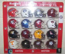 """2020 SEC Conference NCAA Riddell Pocket Size Pro 2"""" Replica Mini Helmet Set (16)"""