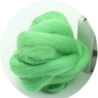 Fashion Wool Fibre Lot of Colors 100g Top Roving Dyed Spinning Wet Felting Fiber