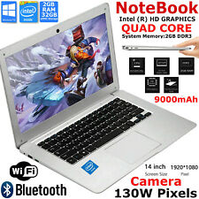 FAST CHEAP Wi-Fi WINDOWS 10 LAPTOP INTEL Quad Core 32GB eMMC 1.92Ghz 2GB RAM Lot
