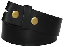 QHA Mens Leather Belts Full Grain Cowhide Replacement Belt Strap Snap On