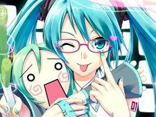 Miku Hatsune Vocaloid Girl Tongue Anime Art Wall Print POSTER FR