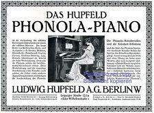 Klavier Hupfeld Phonola Reklame 1913 Berlin Pianistin Künstlerrolle Solodant +