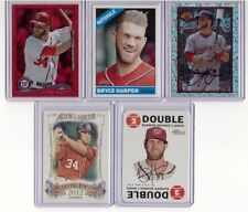 LOT OF 5 BRYCE HARPER TOPPS HERITAGE SP / RED FOIL / BOWMAN INCEPTION #89BIB-BH