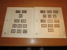 SAFE dual Nachräge / Vordruckblätter BRD 1980-1984 Blattnummer 55-72 TOP! (513)