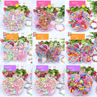 Fashion Girls Children Acrylic Beads Jewelry Making Kit Kids Creative Craft Toys