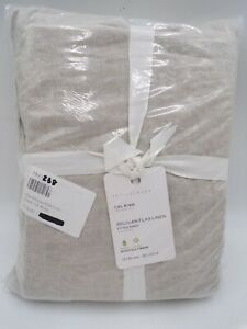 Pottery Barn Belgian Flax Linen Fitted Sheet California King Flax Beige #M23