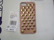 NWT MICHAEL KORS IPHONE 7 LOGO FATED STUDS PALE PINK, GOLD