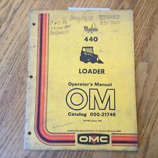 Mustang 440 Operators Manual Maintenance Guide Skid Steer Loader Omc 000 21746