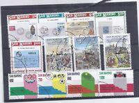 Francobolli - Stamps - San Marino -  3 serie -  usati - 1989 -