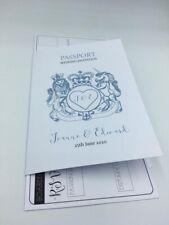 10 Holiday Destination Passport Wedding Invitations Grey