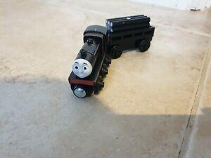 Original black James -Thomas Tank Engine & Friends Wooden train - fits BRIO