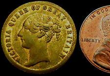 P761: 1850's Queen Victoria Model Half Sovereign - earlier undated type