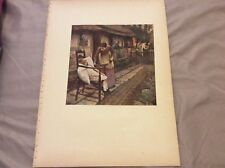 Antique Book Print - The Man With the Scythe - Thangue - 1910