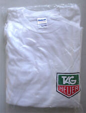 T-shirt Tag Heuer 100% cotton size medium white stop watch co.