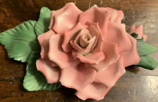 """Painter'S Rose� Capodimonte Porcelain Pink Rose, Porcelain Sculpture Collection"