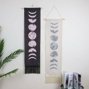 Moon Phase Lunar Display Tapestry Gifts Wall Art Hanging Modern Home Decor