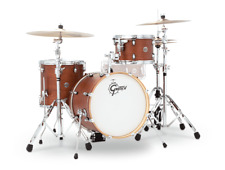 Gretsch Catalina Club 3 Piece Drum Set With 18 Bass Drum - Satin Walnut Glaze